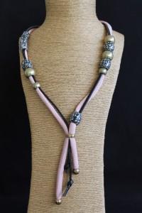 N14L - rose - ceramique/cuir - 47 cm