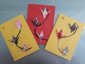 WK-TS : Carte de voeux double avec enveloppe